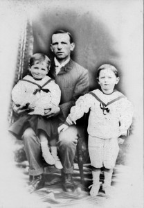 Barney West with his two sons, Bert and Harry