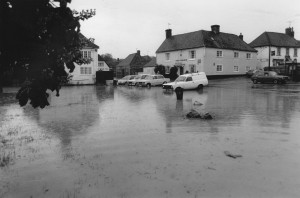 The Pond flooded - 1987