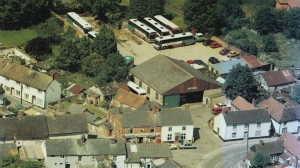 Barnes' Aldbourne Yard from the air - 1996