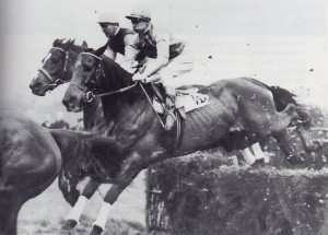 Jack Dowdeswell on 'The Pills' (behind) & 18-year old Lester Piggott