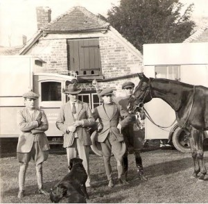 Billy Parvin, Bay Powell, Eric Brown & Dick Holland at Hightown Stables