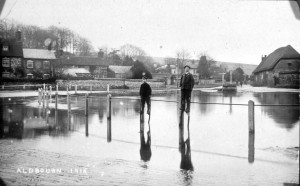 The Pond towards South Street - January 1915